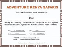 Mounatineering Mt Kenya