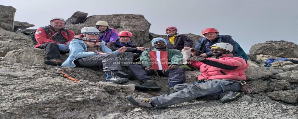 Rick Climbing Mt Kenya